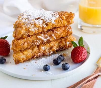 screenshot of crusted cornflake french toast
