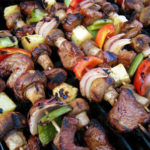 screenshot of george foreman grilled steak kebabs