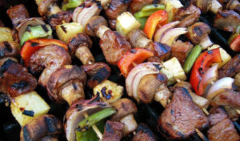 George Foreman Grilled Steak Kebabs Recipe