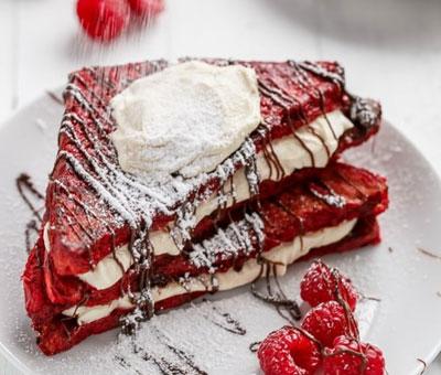 screenshot of red velvet french toast