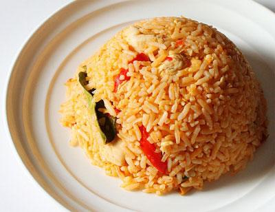 screenshot of tom yum fried rice