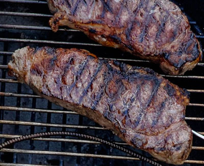screenshot of george foreman grilled new york strip steak