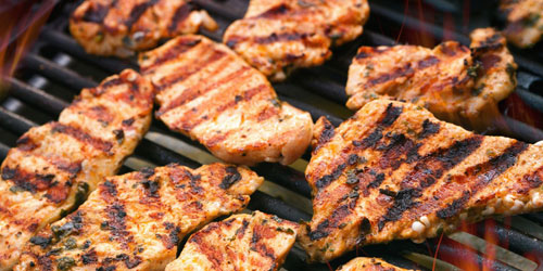 screenshot of boneless skinless george foreman grilled chicken breast