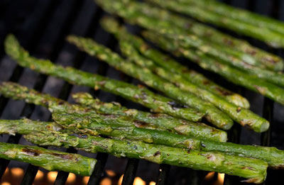 screenshot of george foreman grill asparagus