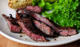 George Foreman Grilled Skirt Steak with Fiesta Corn Salsa Recipe