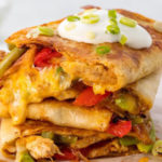 screenshot of george foreman grilled chicken quesadillas