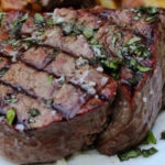 screenshot of george foreman grilled beef tenderloin steak