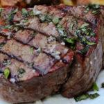 screenshot of george foreman grilled beef tenderloin steak