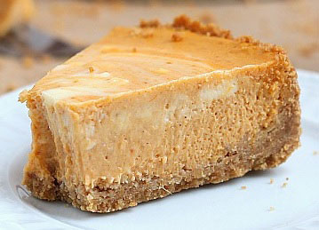 screenshot of marbled pumpkin cheesecake