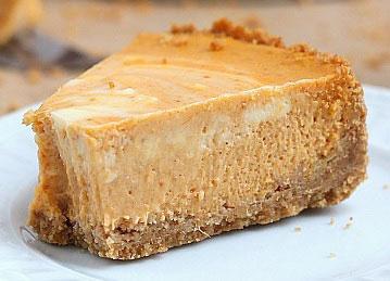 screenshot of marbled pumpkin cheesecake