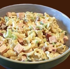 screenshot of turkey pasta salad